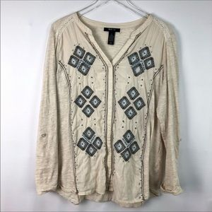 Style & Co Embroidered Blouse